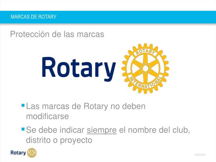 MARCAS DE ROTARY