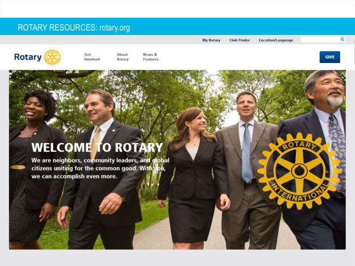 ROTARY RESOURCES: rotary.org