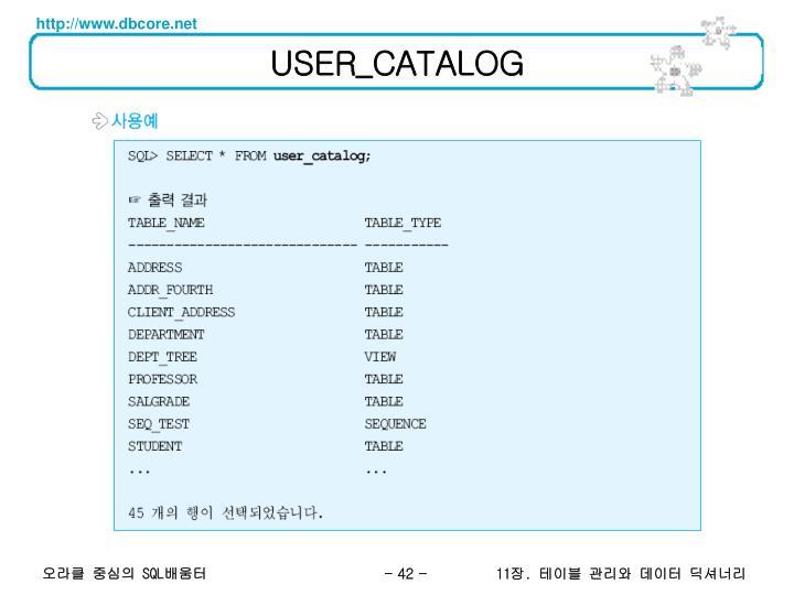 USER_CATALOG