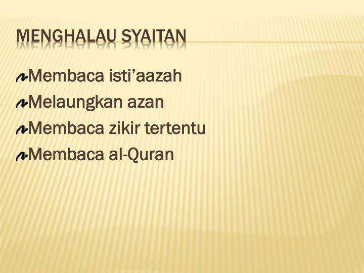 Membaca isti'aazah