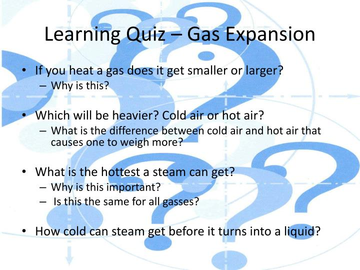 Learning Quiz – Gas Expansion