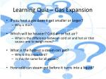 learning quiz gas expansion