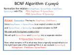 bcnf algorithm example