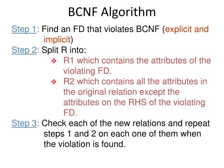 BCNF Algorithm