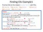 finding cks example1