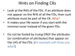 hints on finding cks