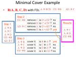 minimal cover example