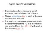 notes on 3nf algorithm