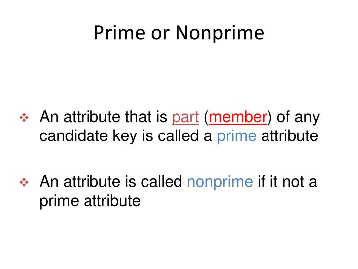 Prime or Nonprime