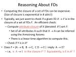 reasoning about fds1