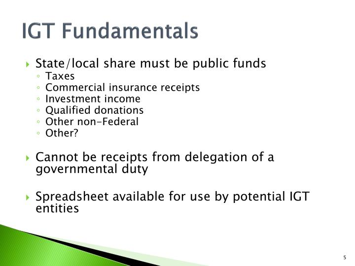 IGT Fundamentals