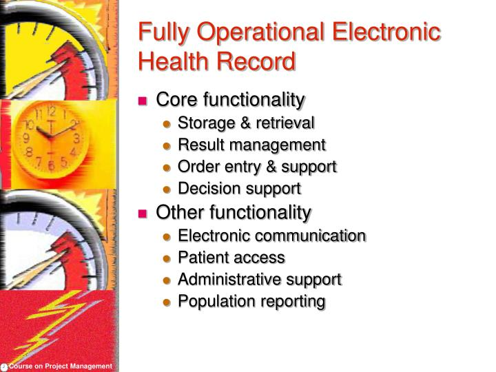 Fully Operational Electronic Health Record