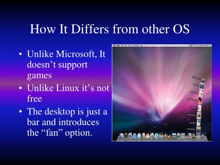 How It Differs from other OS
