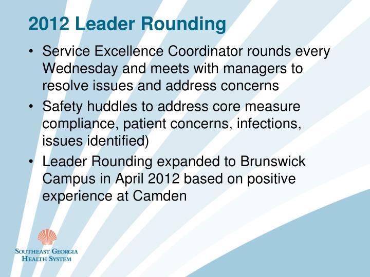 2012 Leader Rounding