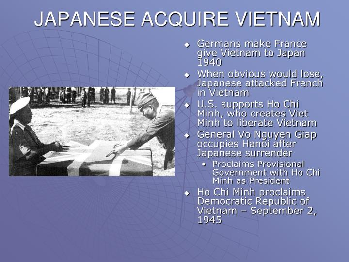 JAPANESE ACQUIRE VIETNAM