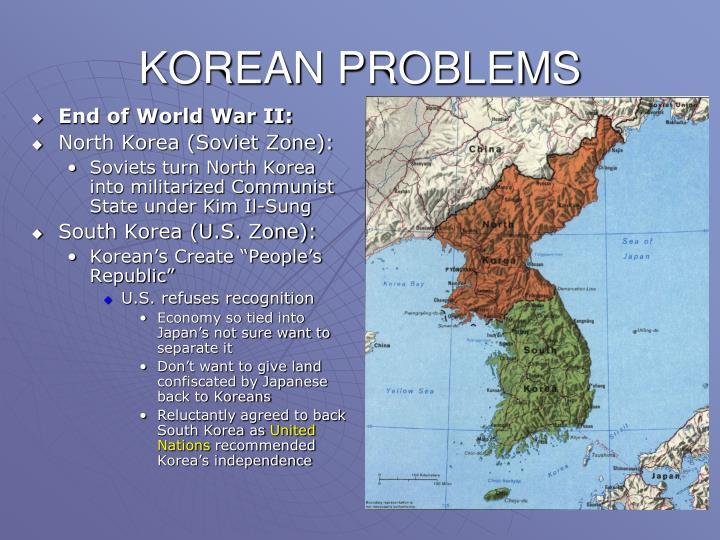 KOREAN PROBLEMS