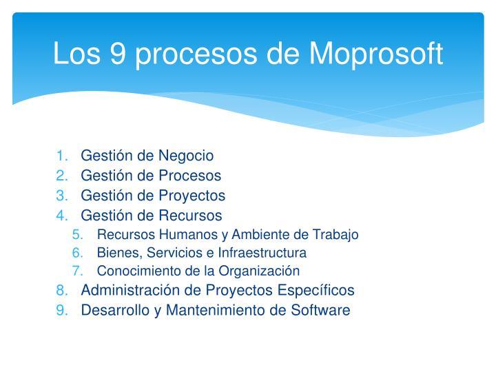Los 9 procesos de