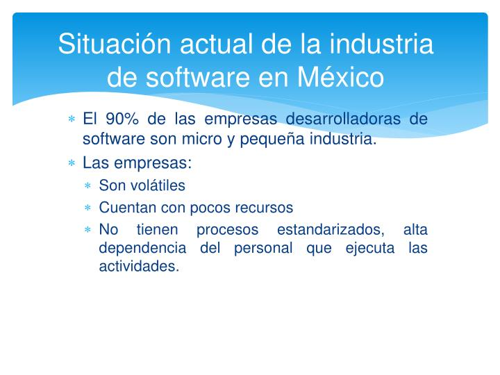 Situaci n actual de la industria de software en m xico