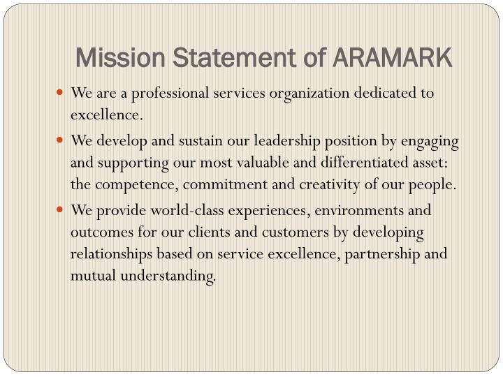 Mission Statement of ARAMARK