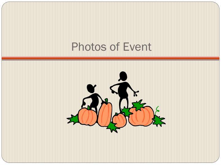 Photos of Event