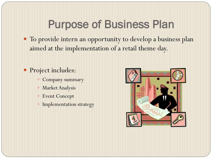 Purpose of Business Plan