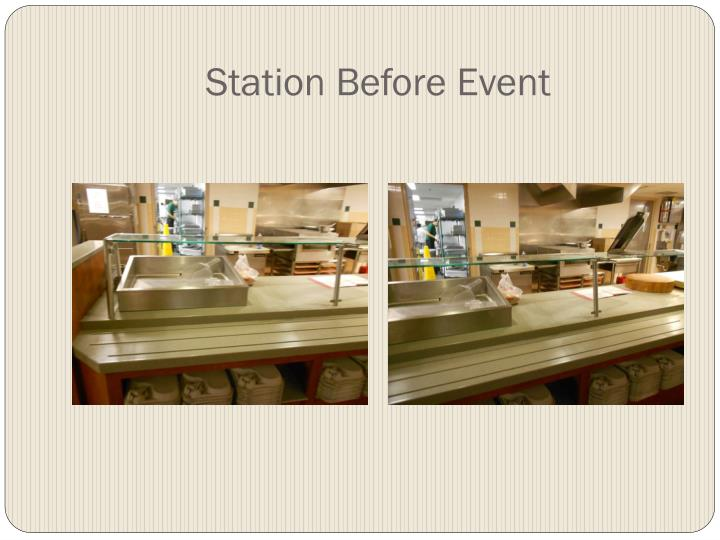 Station Before Event