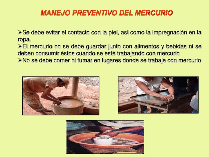 MANEJO PREVENTIVO DEL MERCURIO