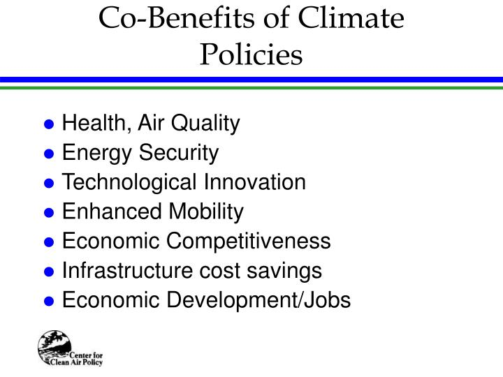 Co-Benefits of Climate Policies