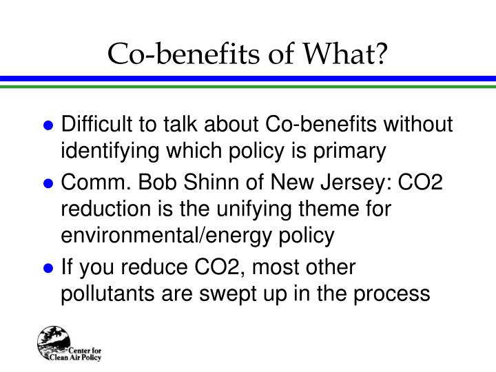 Co-benefits of What?