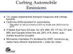 curbing automobile emissions