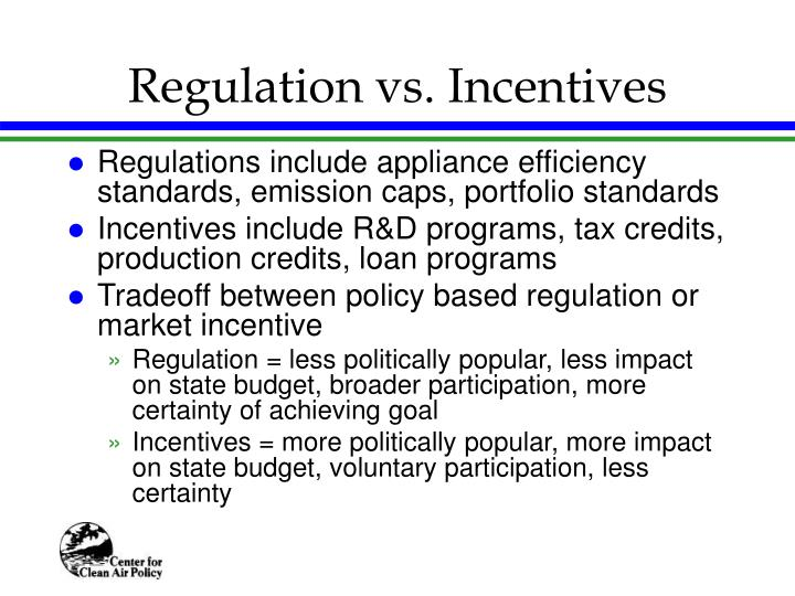 Regulation vs. Incentives
