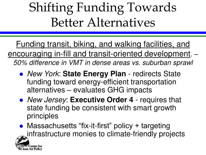 Shifting Funding Towards Better Alternatives