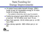 state funding for energy improvements