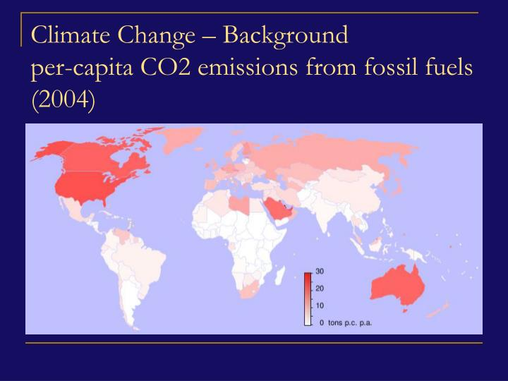 Climate Change – Background