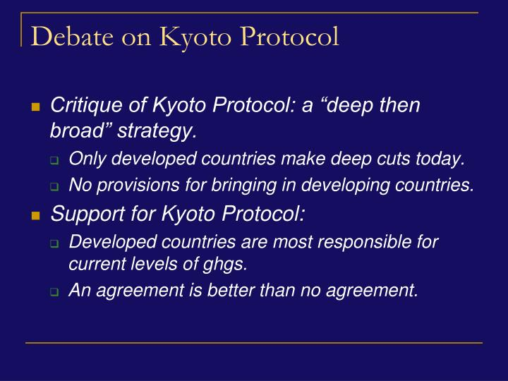Debate on Kyoto Protocol