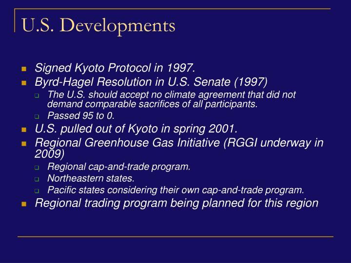 U.S. Developments