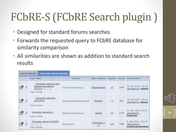 FCbRE-S (FCbRE Search plugin )