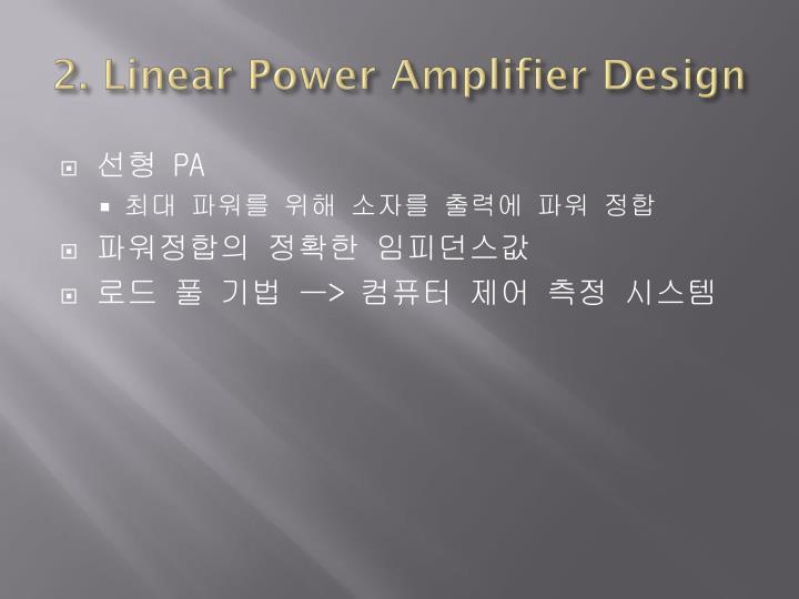 2. Linear