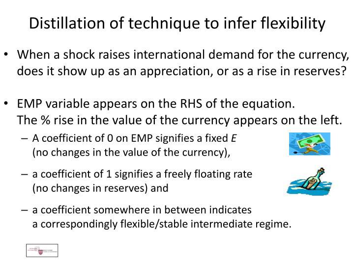 Distillation of technique to infer flexibility