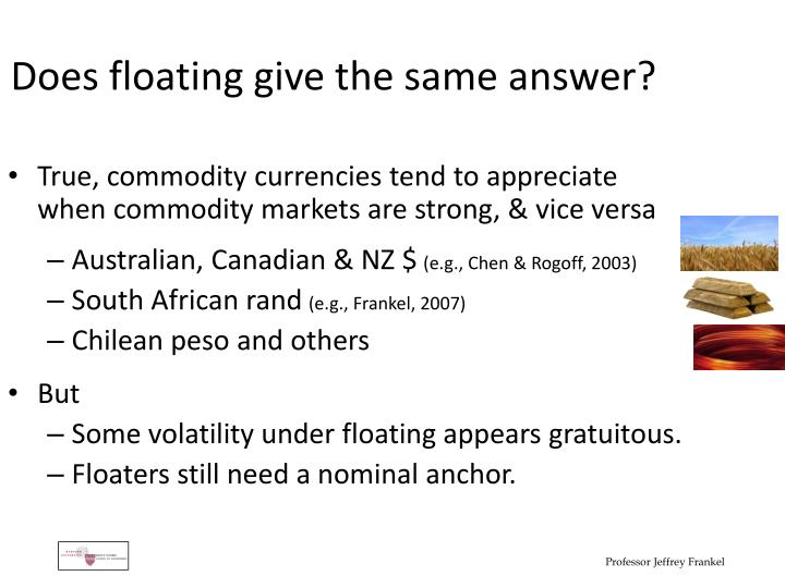 Does floating give the same answer?