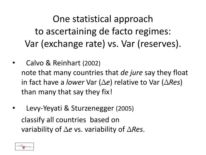 One statistical approach