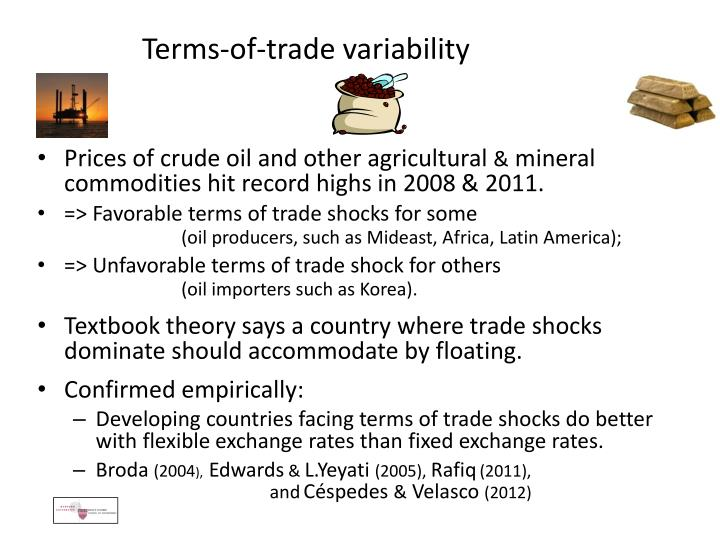 Terms-of-trade variability