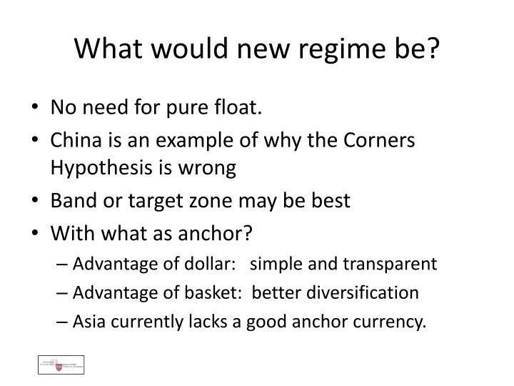 What would new regime be?