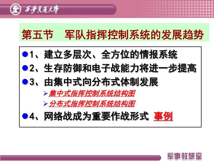 第五节  军队指挥控制系统的发展趋势