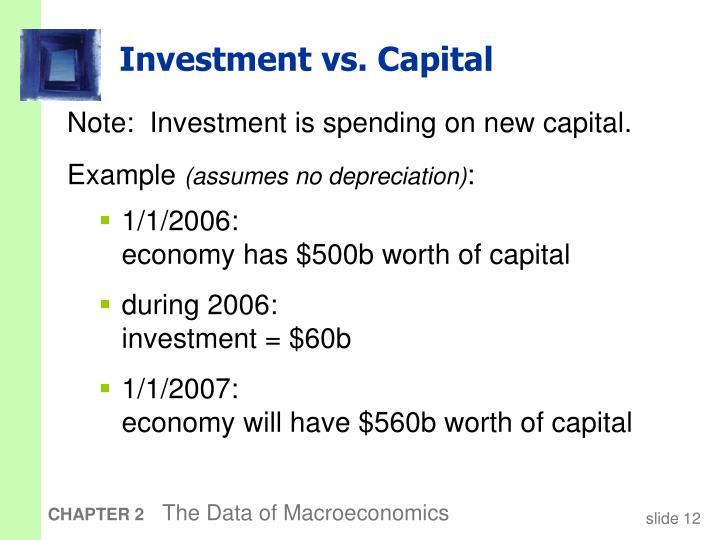 Investment vs. Capital