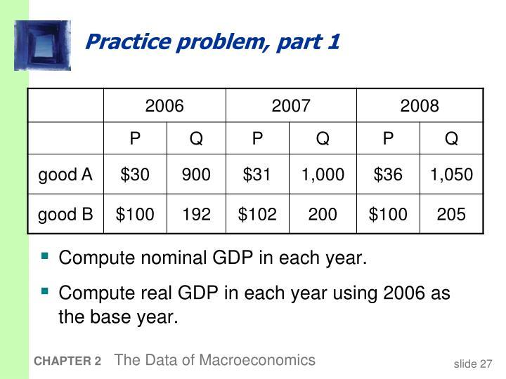 Practice problem, part 1