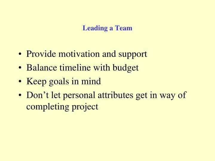 Leading a Team