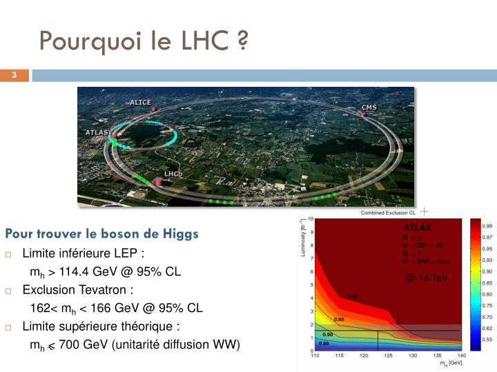 Pourquoi le LHC ?