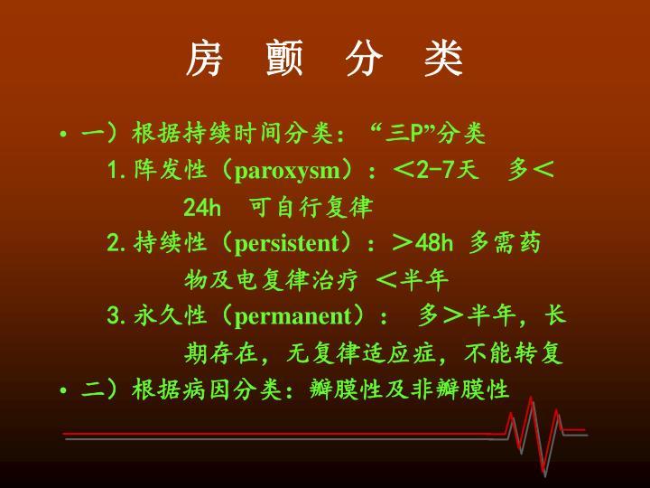 房    颤    分    类
