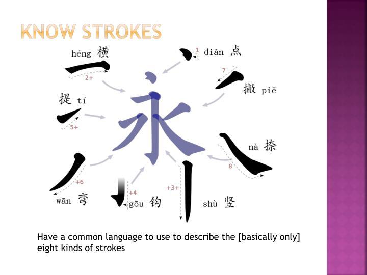 Know Strokes
